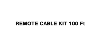 Remote Cable Kit 100ft (2-Wire)