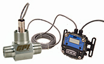 Male GPI GNP-100S2-6 G Series Precision Turbine Meter Standard Uses Standard Sensor 2 with 12 Lead Wires GX510-4-20 mA Transmitter with Display 1 NPT 6.7-67 GPM Stainless Steel 1 6.7-67 GPM Standard Uses Standard Sensor 2 with 12 Lead Wires